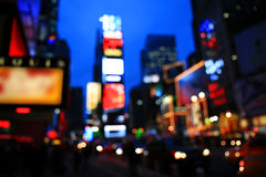 The Times Square -special effect. The Times Square - out of focus effect - perfect for stock image Royalty Free Stock Photo