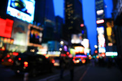 The Times Square -special effect. The Times Square - out of focus effect - perfect for stock image Royalty Free Stock Images
