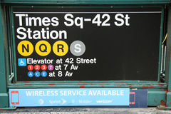Times Square 42 St Subway Station entrance in NYC Royalty Free Stock Photo