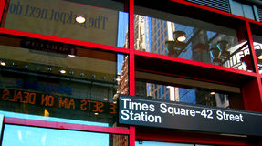 Times Square Station Royalty Free Stock Images