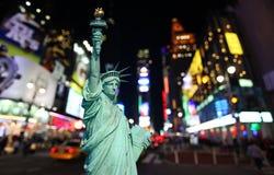 Times Square Statua Wolności i zdjęcie royalty free