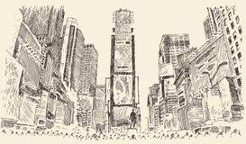 Times Square-Straße in New- York Citystich Lizenzfreie Stockbilder