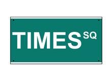 Times Square-Straßenschild Lizenzfreies Stockbild