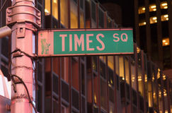 Times Square street sign, NYC Royalty Free Stock Image