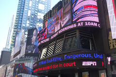 Times Square Studios. The Times Square Studios, in Midtown Manhattan, which is best known as the production home of ABC News' Good Morning America, a morning royalty free stock photos
