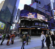 Times Square Studios (TSS). Is an American television studio located in the Times Square neighborhood of the Manhattan borough of New York City, New York. The royalty free stock photo