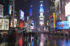 Times Square su una notte piovosa Immagine Stock Libera da Diritti