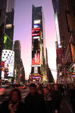 Times Square at sunset Royalty Free Stock Images