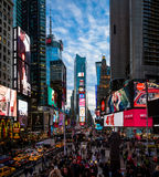 Times Square at sunset - New York, USA. NEW YORK, USA - December 07, 2016: Times Square at sunset - New York, USA Stock Photos