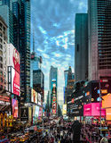 Times Square at sunset - New York, USA. NEW YORK, USA - December 07, 2016: Times Square at sunset - New York, USA Royalty Free Stock Photos