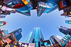 Times Square is a symbol of New. NEW YORK CITY - JUL 8: Times Square, featured with Broadway Theaters and huge number of LED signs, is a symbol of New York City royalty free stock photography