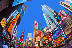 Times Square is a symbol of New York. NEW YORK CITY - JUL 8: Times Square, featured with Broadway Theaters and huge number of LED signs, is a symbol of New York royalty free stock images