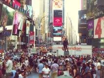 Times Square tłoczący się ludzie Zdjęcie Stock