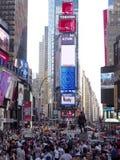 Times Square tłoczący się ludzie Obraz Stock