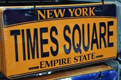 Times Square tablica rejestracyjna Fotografia Stock