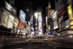 Times Square taxi. Taxi in Times Square at night stock photos
