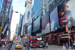 Times Square at 7th Avenue. Times Square in New York City with large bill boards royalty free stock photos