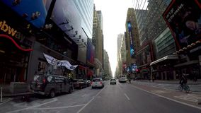 Times Square 48th to 34th on 7th Ave Time Lapse 4K stock footage