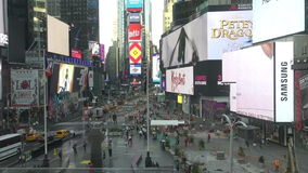 Times Square timelapse stock video