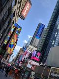 Times Square. New York City and Broadway royalty free stock image