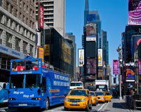 Times square tourist spot. Shot from times square as tourist take pictures Royalty Free Stock Image