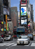 Times square tourist spot. Shot from times square as tourist take pictures Royalty Free Stock Images