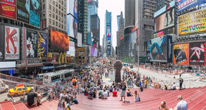 Times Square Tourists Royalty Free Stock Photography