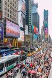 Times Square Tourists Stock Image