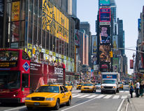 Times Square Traffic Stock Photography