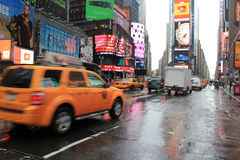 Times square traffic Stock Images