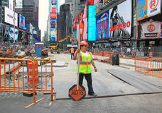 Times Square Under Construction Stock Photography