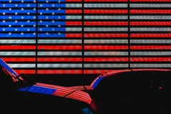 Times Square United States Flag Stock Images