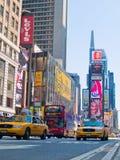 Times Square-Verkehr Stockfoto