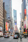 Times Square-Verkehr Stockbild