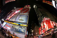 Times Square, via di New York Fotografie Stock