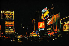 Times Square Vintage 1950's Royalty Free Stock Photos