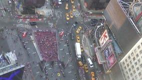 Times Square von oben stock video