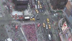 Times Square vu d'en haut banque de vidéos