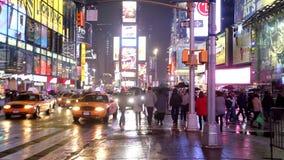 Times Square W Nowy Jork zbiory wideo