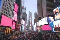 Times Square am Weihnachtstag in Manhattan Lizenzfreies Stockfoto