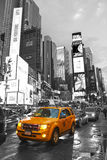 Times Square with yellow cab, Manhattan, New York City. Royalty Free Stock Photos