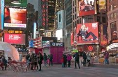 Times Square zbliżenie Fotografia Royalty Free