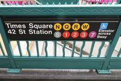 Times Squaregångtunnel Arkivbilder
