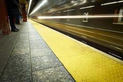 Times Squaregångtunnelstation, New York City Arkivbild