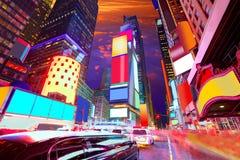 Times SquareManhattan New York borttagna annonser Arkivfoto
