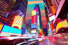 Times SquareManhattan New York borttagna annonser Royaltyfri Fotografi