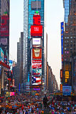 Times Squares  is a symbol of New Stock Images