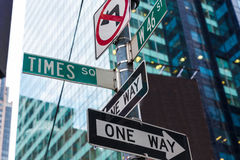 Times Squaretecken & st New York för W 46 Royaltyfri Fotografi