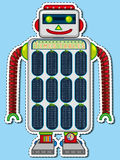 Times tables chart on robot toy Royalty Free Stock Image