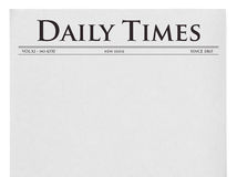 Newspaper Isolated On White Stock Illustration Illustration Of